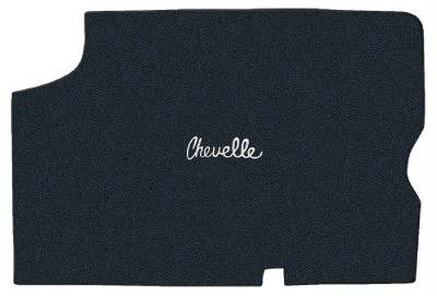 chevelle or malibu custom trunk carpet with logo 1964 1965 made in the u s a ebay. Black Bedroom Furniture Sets. Home Design Ideas