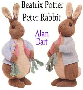 Alan Dart Beatrix Potter Peter Rabbit toy knit pattern eBay