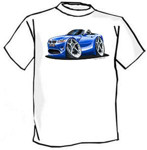 BMW Z4 Classic Car Cartoon Tshirt FREE SHIPPING