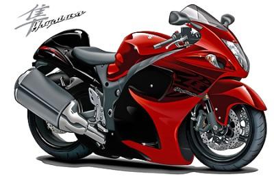 Suzuki-Hayabusa-Motorcycle-Cartoon-Art-Print