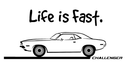 1970-72-Dodge-Challenger-Muscle-Car-Art-Cartoon-Tshirt
