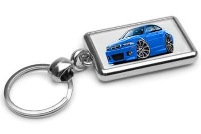 2001-06-BMW-e46-M3-Exotic-Car-toon-Keychain-NEW