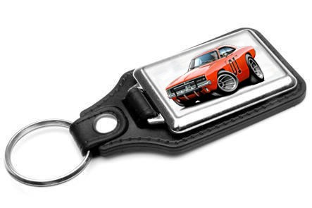 General-Lee-Dodge-Charger-Muscle-Car-toon-Keychain-NEW