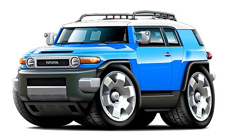 Toyota-FJ-Cruiser-4x4-SUV-Cartoon-Tshirt-NEW
