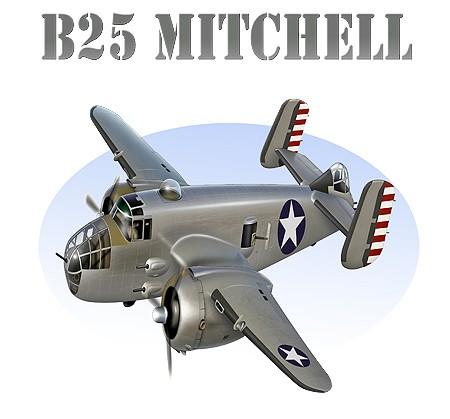B25-Mitchell-Attack-Bomber-Airplane-Cartoon-Tshirt-NEW