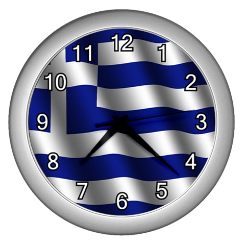 NEW-WALL-CLOCK-GREECE-GREEK-FLAG