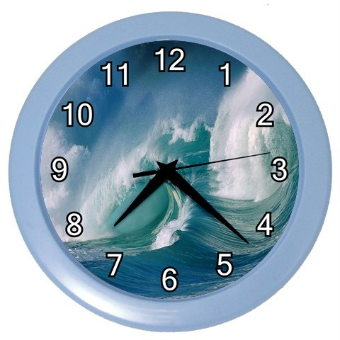 NEW-SURFERS-SURF-OCEAN-WAVE-WALL-CLOCK-BAR-LOUNGE-BEDROOM-BLUE