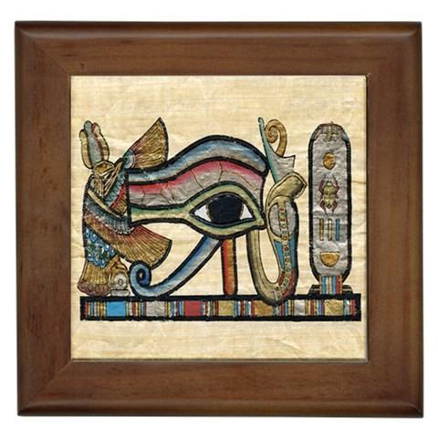New Egyptian Art 4 Set Framed Wall Tiles Home Decor Lounge
