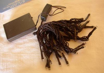 Battery Operated String Lights Brown Wire : Twinkling ~ LED Light Battery Operated Light String ~ Brown Cord ~ 20 count LED eBay