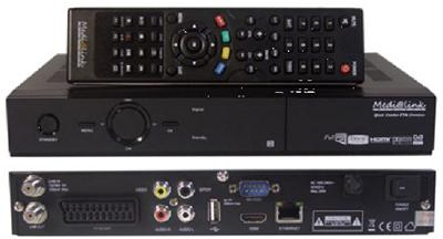 Medialink Black Panther FTA Premium HDTV Sat-Receiver Full HD +USB ...