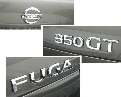 NISSAN FUGA INFINITI M45 M35 VIP JDM TRUNK EMBLEM GT