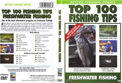 Freshwater fishing top 100 fishing tips dvd new ebay for Freshwater fishing tips