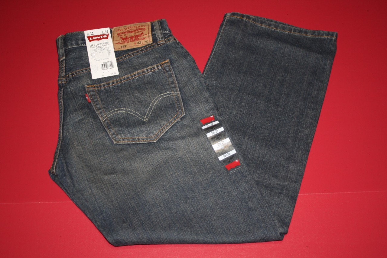 MENS LEVIS RELAXED STRAIGHT 559 JEANS RANGE SIZE 32x30 #1548
