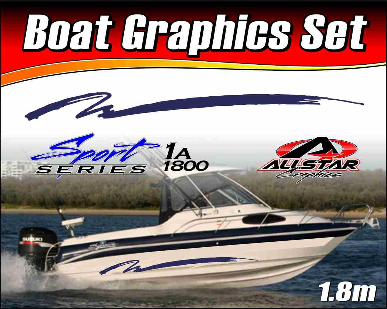 Boat-Graphic-Sticker-Kit-Vinyl-stripe-decal-for-Marine-or-Automotive-SS-1A1800