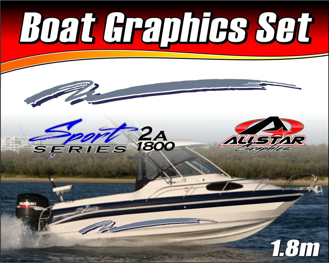 Boat-Graphic-Sticker-Kit-Vinyl-stripe-decal-for-Marine-or-Automotive-SS-2A1800