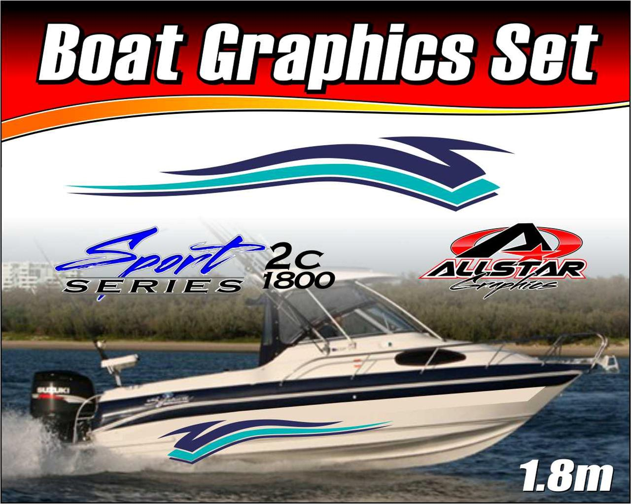 Boat-Graphic-Sticker-Kit-Vinyl-stripe-decal-for-Marine-or-Automotive-SS-2C1800