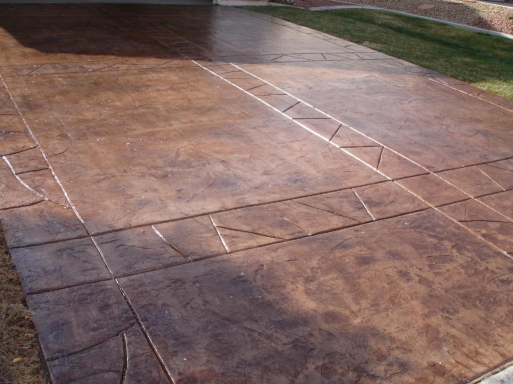 Acid wash concrete patio concrete driveway with acid for Acid wash concrete driveway