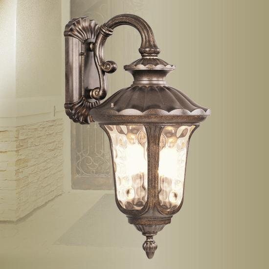3 Light Livex Moroccan Gold Oxford Outdoor Wall Sconce Fixture Lighting 7663-50 eBay
