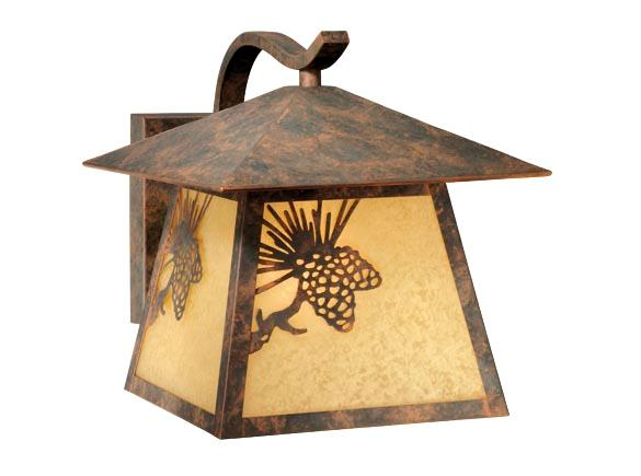 Outdoor Wall Lighting Fixture Yellowstone Pinecone Forest