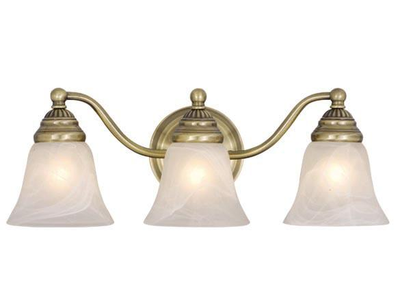 Antique Brass Vaxcel Standford 3l Vanity Bathroom Wall Discount Light Vl35123a