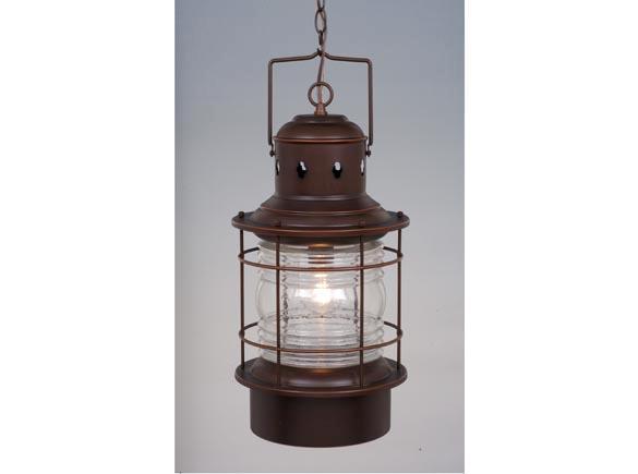Portfolio 3 Light 22 In Brushed Nickel Bowl Vanity Light: Hyannis 10W Outdoor Indoor Pendant Lighting Burnished