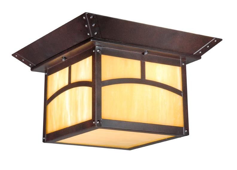 Outdoor Vaxcel Fixture Mission Porch Ceiling Lighting Bronze Lamp TL OFU110EB