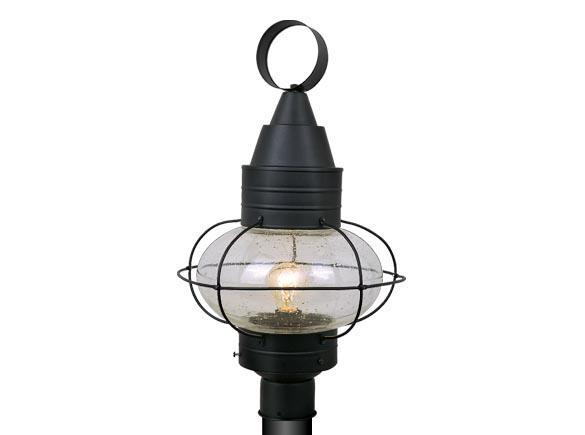 13 dia onion black outdoor lamp nautical post lighting vaxcel chatham. Black Bedroom Furniture Sets. Home Design Ideas