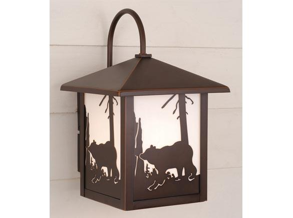 RUSTIC LODGE WALL SCONCE YELLOWSTONE bozeman bear OW35083BBZ LIGHTING VAXCEL eBay