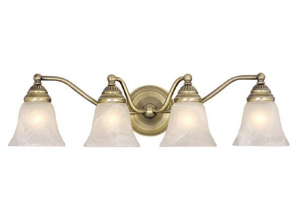 Talista 4 Light Antique Bronze Bath Vanity Light With: Antique Brass Vaxcel Standford 4L Vanity Bathroom Wall