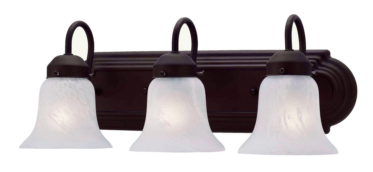 Bronze Livex Home Basics 3 Light Bathroom Vanity Wall