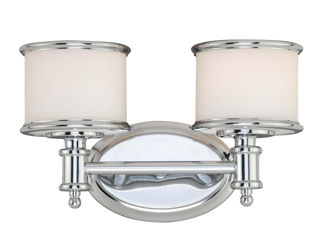 Bathroom Chrome Light Fixture: 2 L Vaxcel Carlisle Bathroom Hallway Vanity Lighting