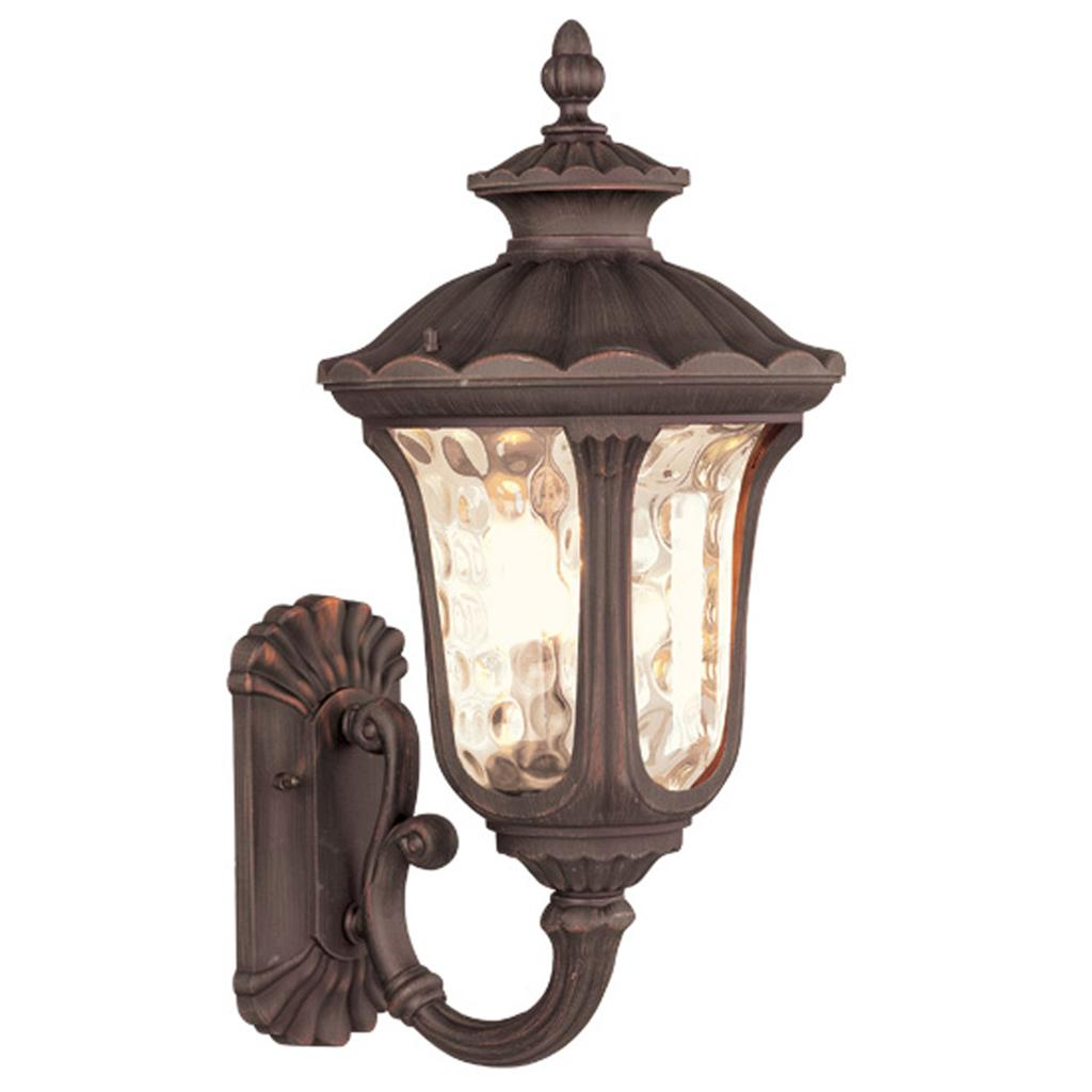 Clearance 11w livex oxford outdoor wall sconce lighting fixture imperial bronze ebay for Exterior light sconce