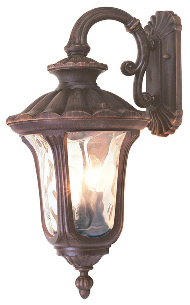 3LIGHT Outdoor Livex Oxford Wall Sconce Lighting Fixture Imperial Bronze 7657 58