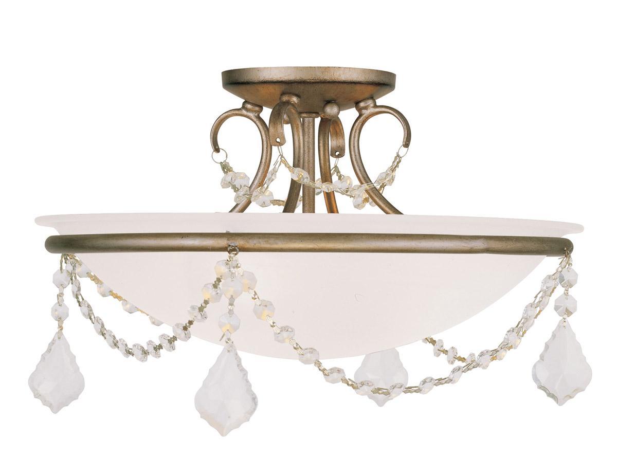 3 L Essex Livex Antique Brass Bathroom Vanity Lighting: 16 Dia Livex 3 L Pennington Ceiling Mount Lighting Antique