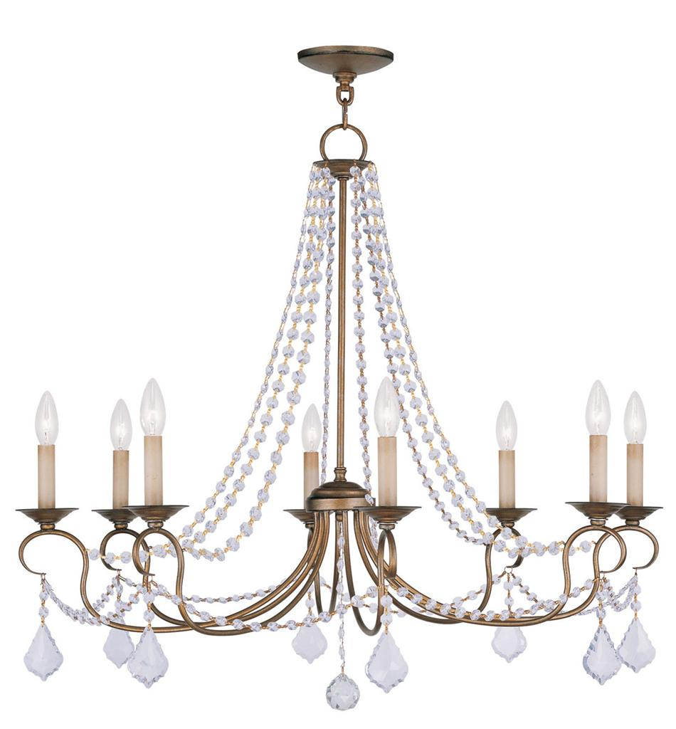 Antique Foyer Chandelier : Livex tier pennington light chandelier fixture antique