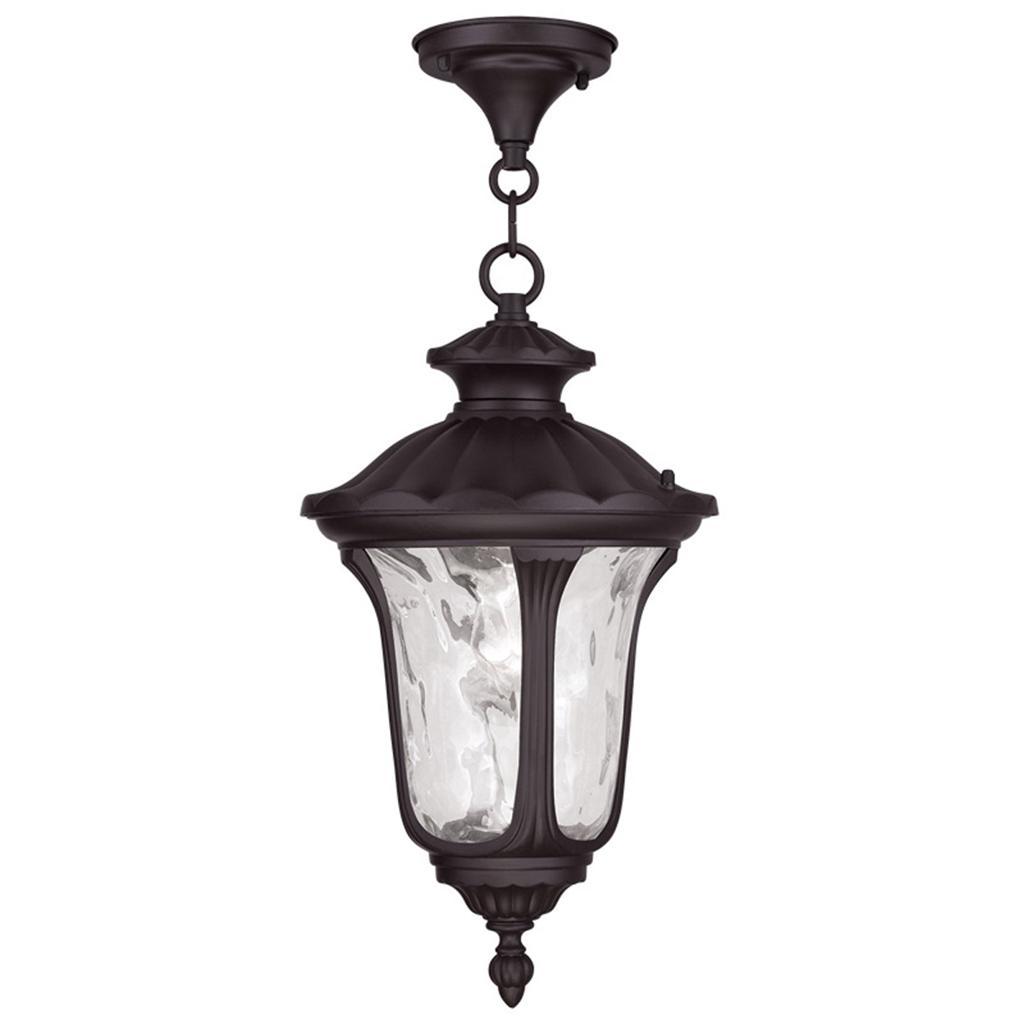 large livex oxford light outdoor porch hanging pendant lantern bronze 7858 07 ebay. Black Bedroom Furniture Sets. Home Design Ideas