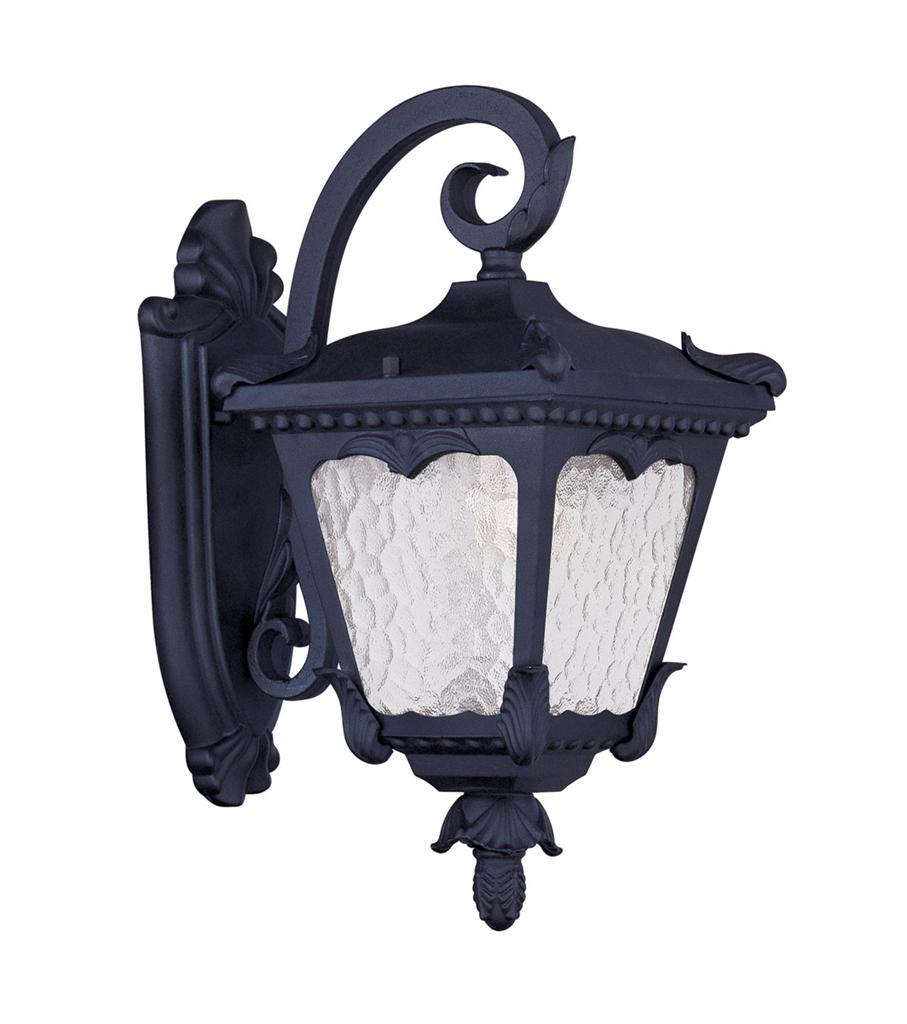 Black Livex 1 Light Porch Outdoor Millstone Wall Sconce Lighting Fixture 7981