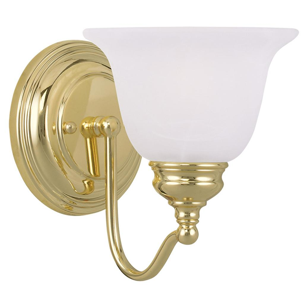 1 Light Livex Essex Polished Brass Bathroom Vanity Lighting Wall Fixture 1351 02 Ebay