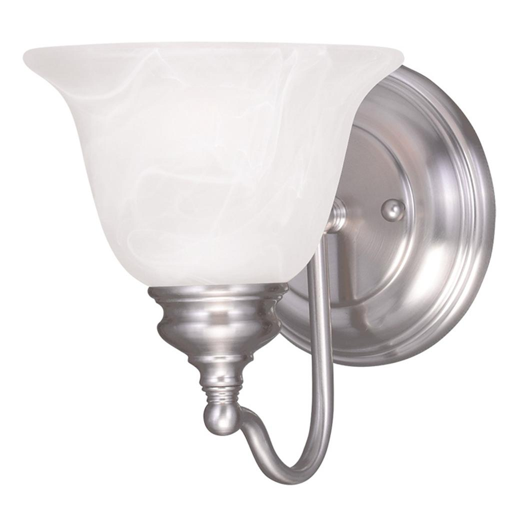 Livex Essex Brushed Nickel 1 Light Bathroom Vanity Lighting Wall Fixture 1351 91 Ebay