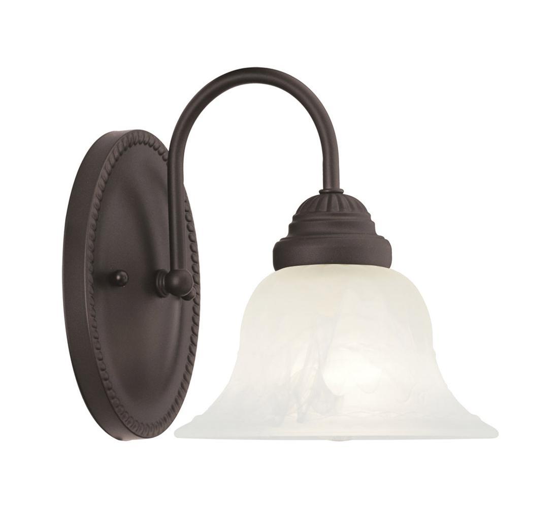 Vanity Light Box Height : Edgemont Livex 1 Light Bronze Bathroom Vanity Lighting Wall Fixture Sale 1531-07 eBay