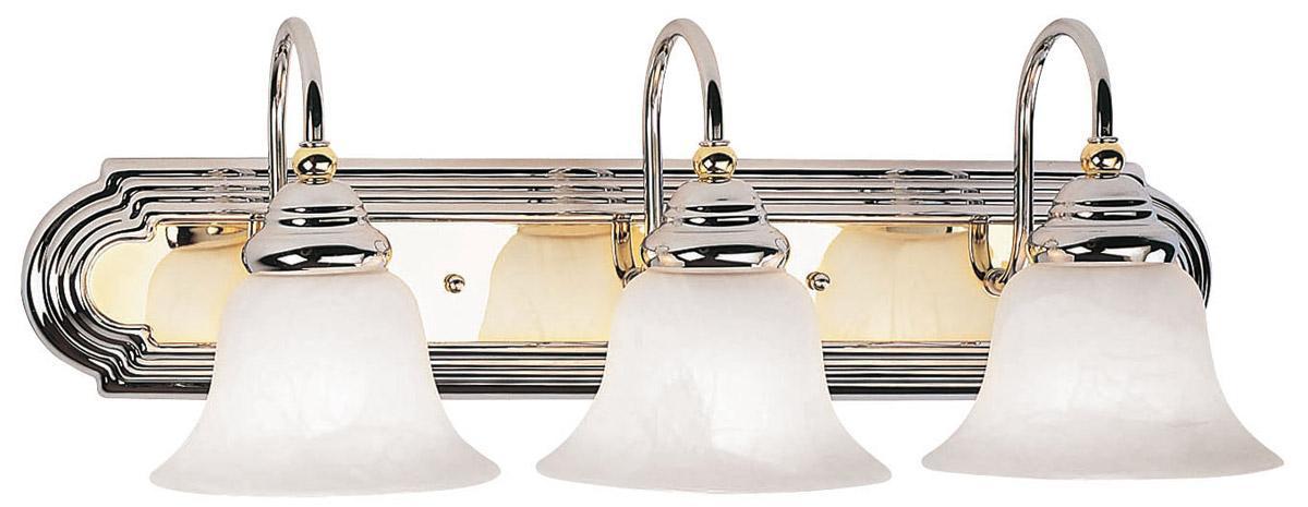 3 Light Livex Belmont Bathroom Vanity Lighting Chrome