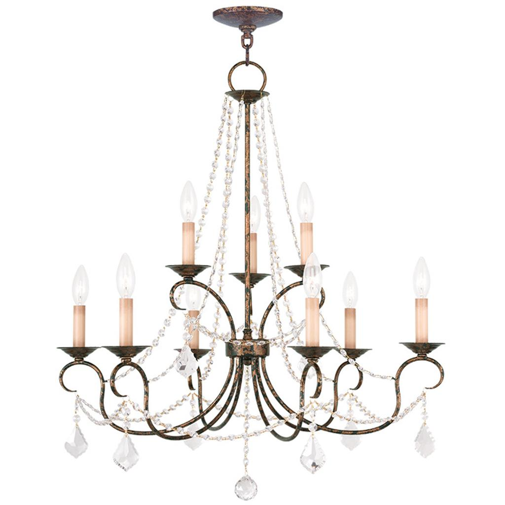 Venetian Bronze Chandelier: Venetian Golden Bronze Livex 9 Light Foyer Pennington