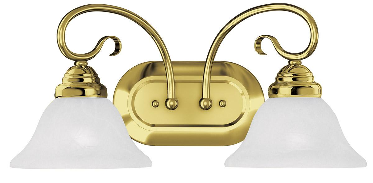 Coronado 2 Light Livex Polished Brass Bathroom Vanity Lighting Fixture 6102 02 Ebay
