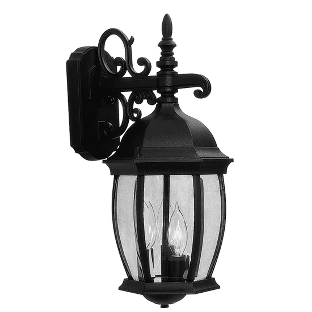 Wall Sconces Overstock : CLEARANCE OVERSTOCK Light Kingston Black Outdoor Wall Lantern Lighting Fixture eBay
