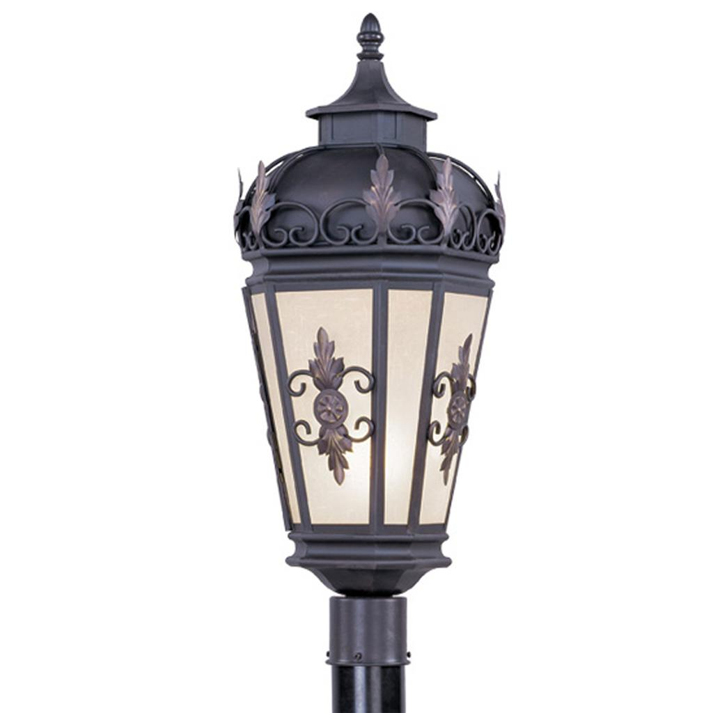 Outdoor Post Light Bulbs: Bronze Livex Berkshire 1 Light Outdoor Porch Post Lighting