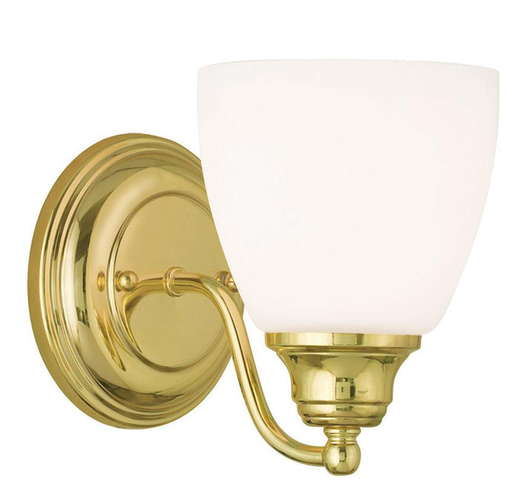 1 Light Livex Somerville Polished Brass Bathroom Vanity Fixture Sale 13671 02 Ebay