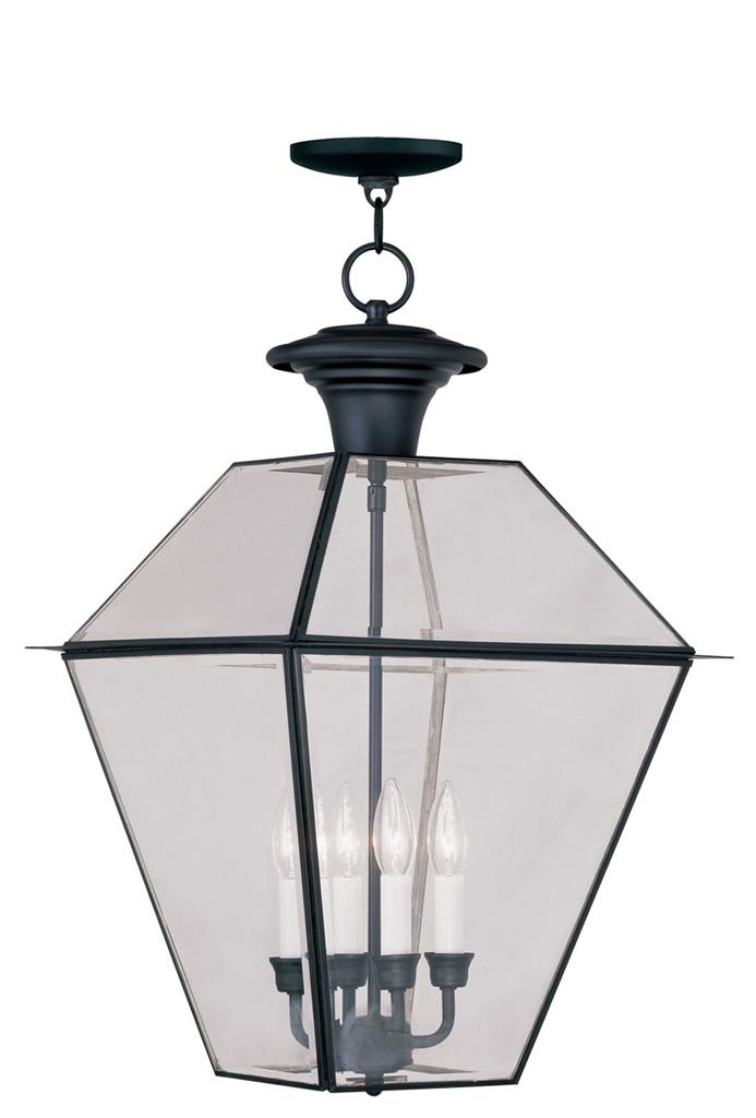 4 light livex black westover outdoor porch pendant for Outdoor hanging porch lights