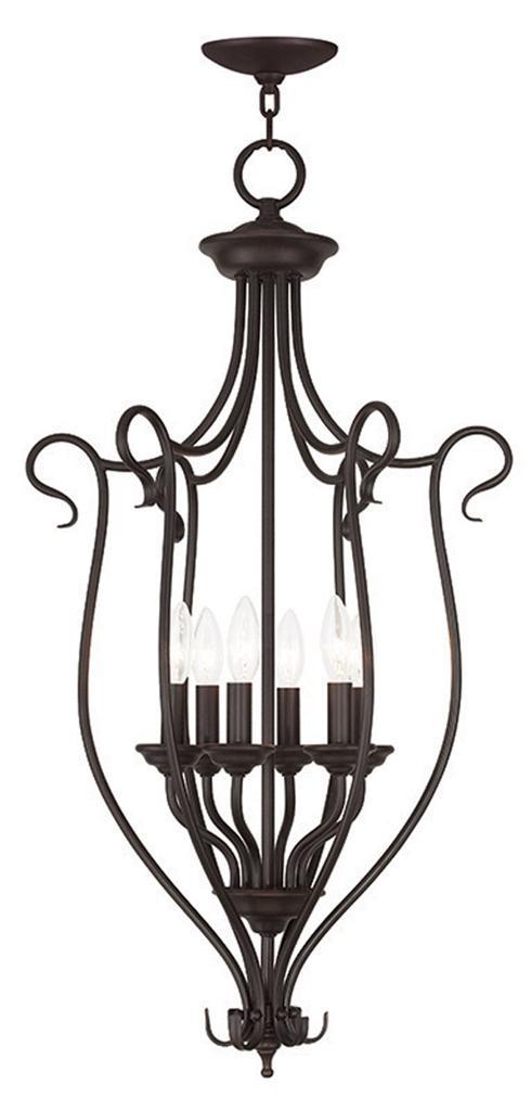 Foyer Chandelier For Sale : Light coronado bronze foyer pendant lighting chain hang