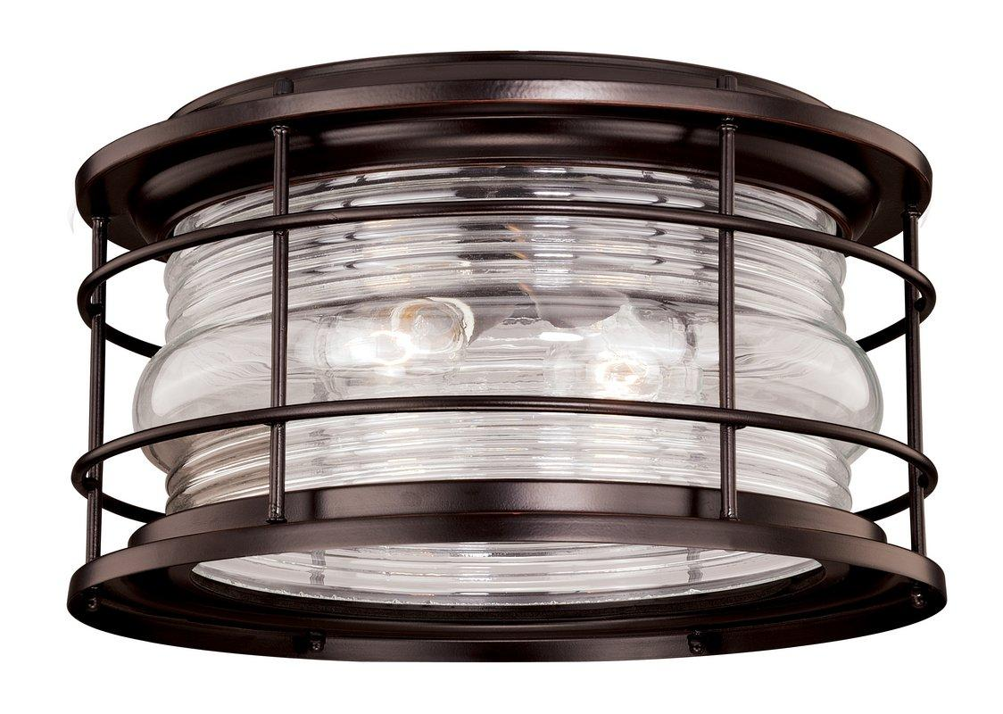 ... Outdoor locations Hyannis 2 Light Flush Mount Outdoor Ceiling Fixture