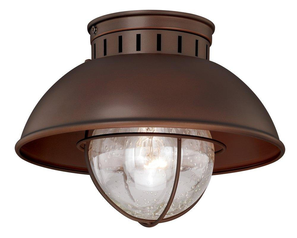 Burnished Bronze 10 Vaxcel Harwich Outdoor Porch Light